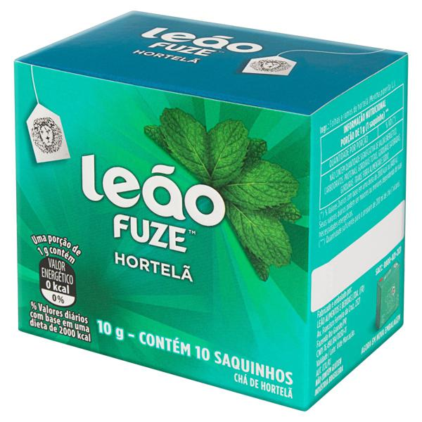 Chá Hortelã Leão Fuze Caixa 10g 10 Unidades