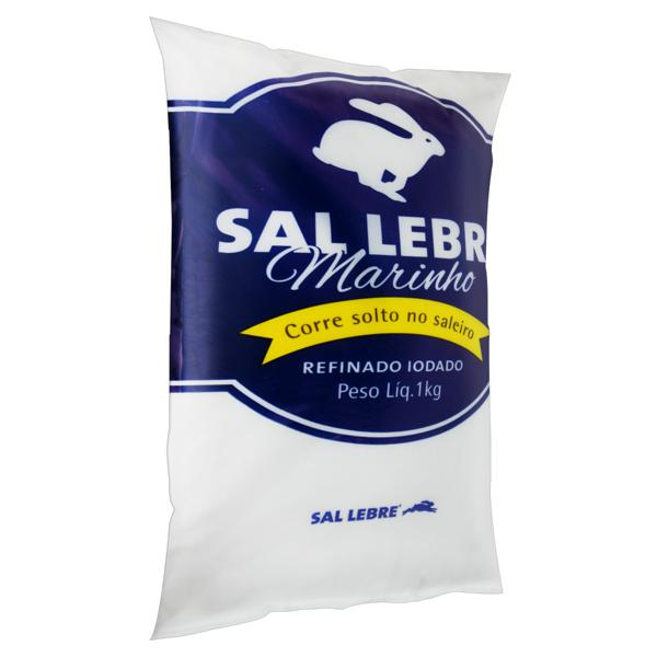 Sal Refinado Iodado Lebre Pacote 1kg
