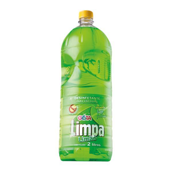 Desinfetante Gota Limpa 2L Limao