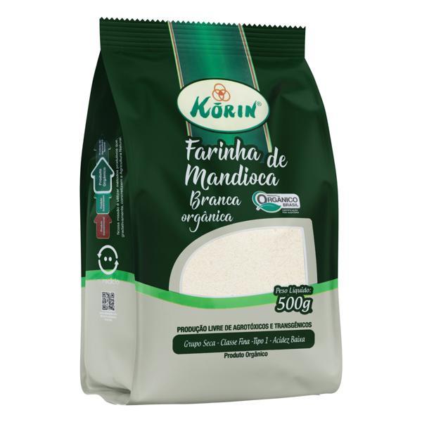 Farinha de Mandioca Tipo 1 Branca Orgânica Korin Pacote 500g