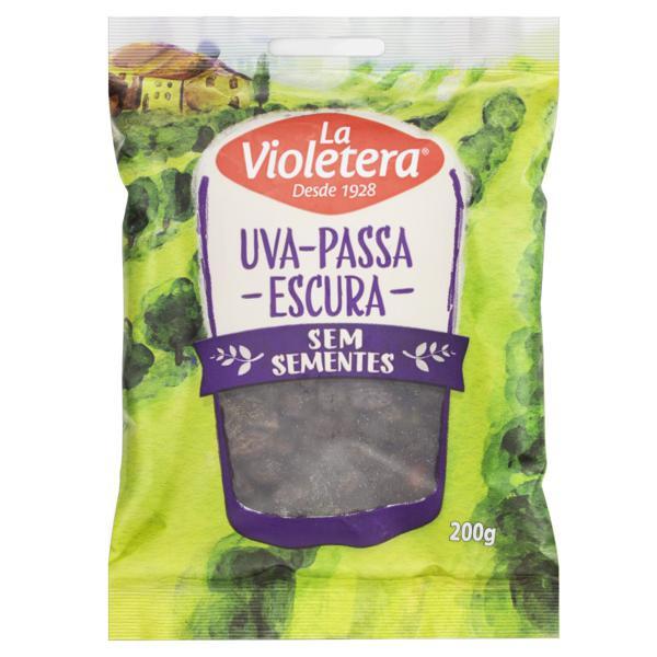 Uva-Passa Escura sem Semente La Violetera Pacote 200g