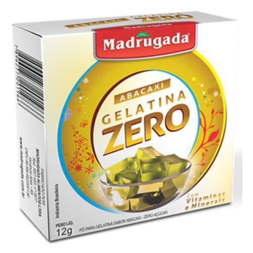 Gelatina Madrugada 12G Zero Abacaxi