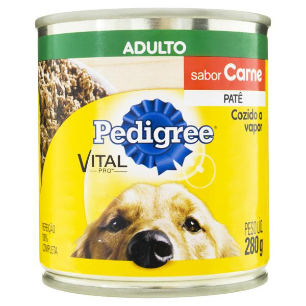 Patê para Cães Adultos Carne Pedigree Vital Pro Lata 280g