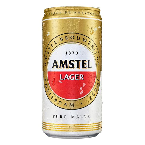 Cerveja Lager Puro Malte Amstel Lata 269ml