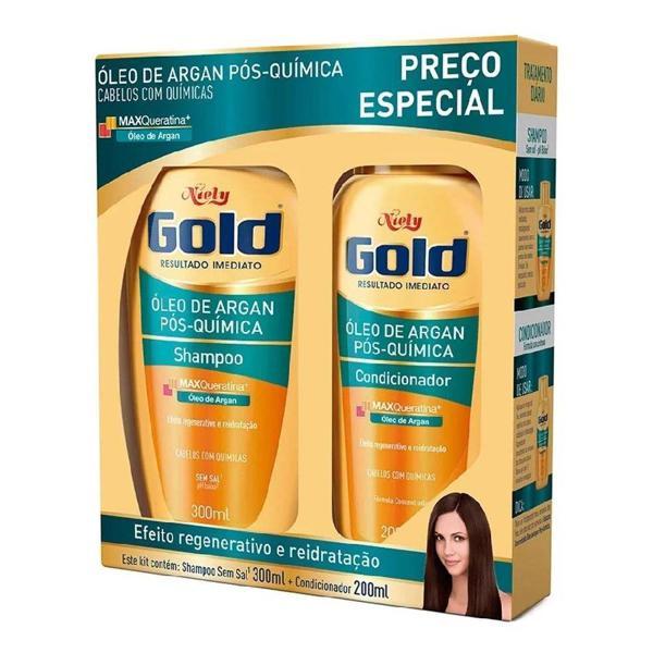 Kit NIELY GOLD Shampoo e Condicionador Pós-Químida 2 Unidades