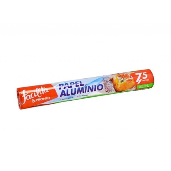 Papel Aluminio Facilita&Pronto 30Cmx7,5M