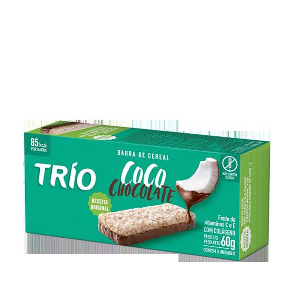 Barra de Cereal TRIO Coco com Chocolate 60g