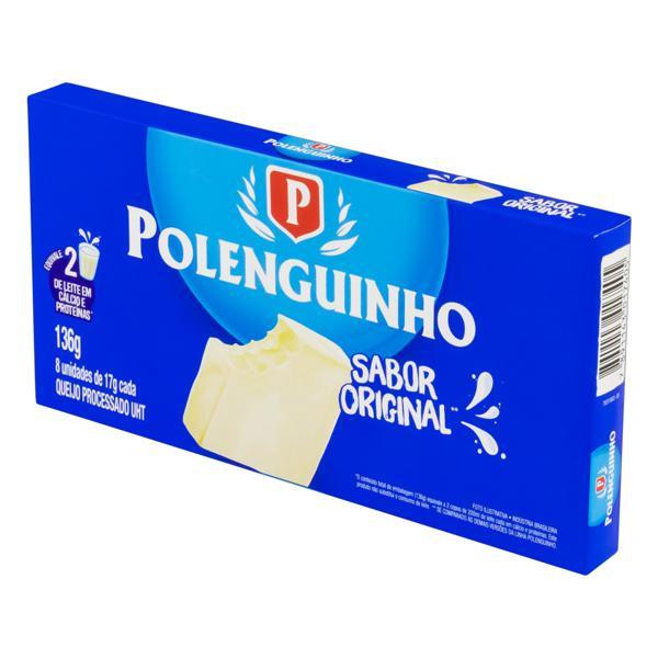 Pack Queijo Processado UHT Original Polenguinho 136g 8 Unidades