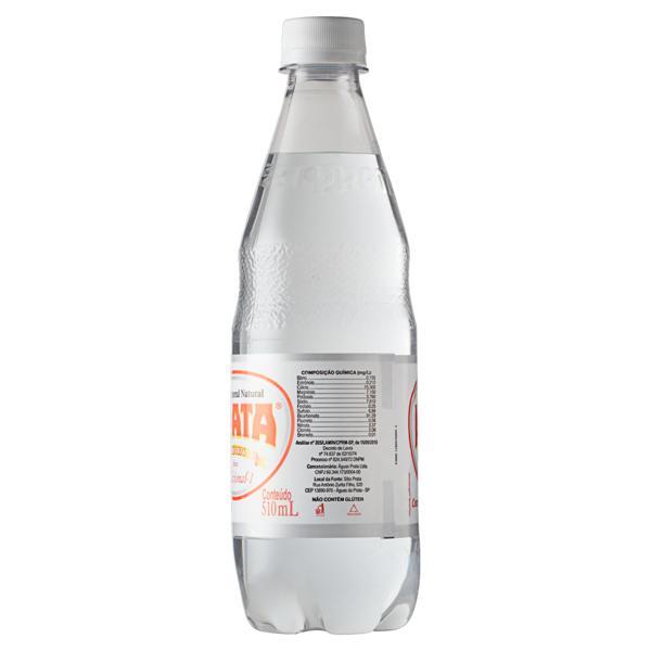 Água Mineral Natural com Gás Prata Garrafa 510ml