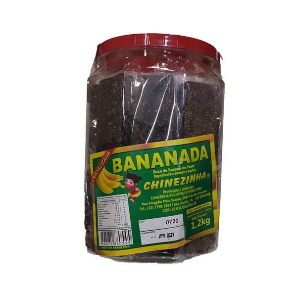 Doce Banana Cristal CHINEZINHA Pote 1,2kg