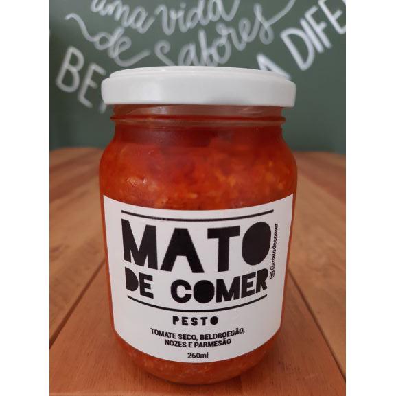 Pesto de Tomate Seco, Beldroegão, Nozes e Parmesão 260ml MATO DE COMER