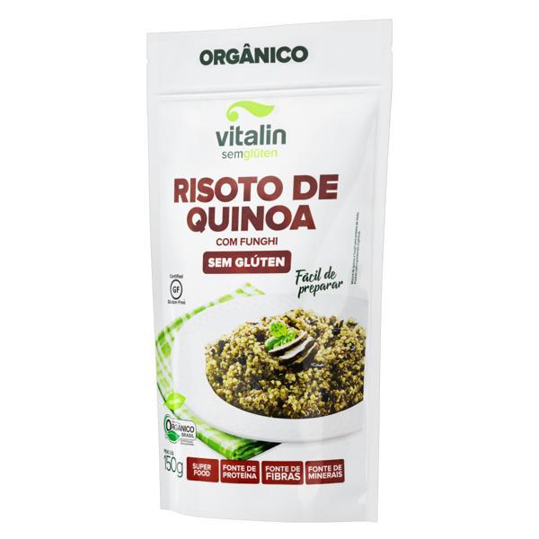 Risoto Orgânico de Quinoa Funghi sem Glúten Vitalin Pouch 150g