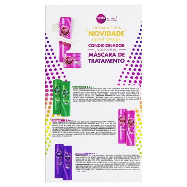 Kit Shampoo + Condicionador Seda 325ml  Ceramidas