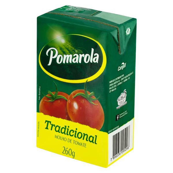 Molho de Tomate Tradicional Pomarola Caixa 260g