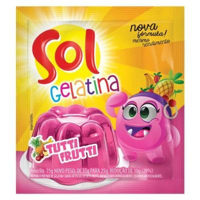 Gelatina SOL Tutti Frutti 25g