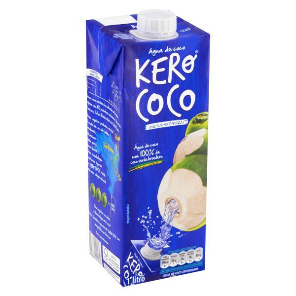 Água de Coco Esterilizada Kero Coco Caixa 1l