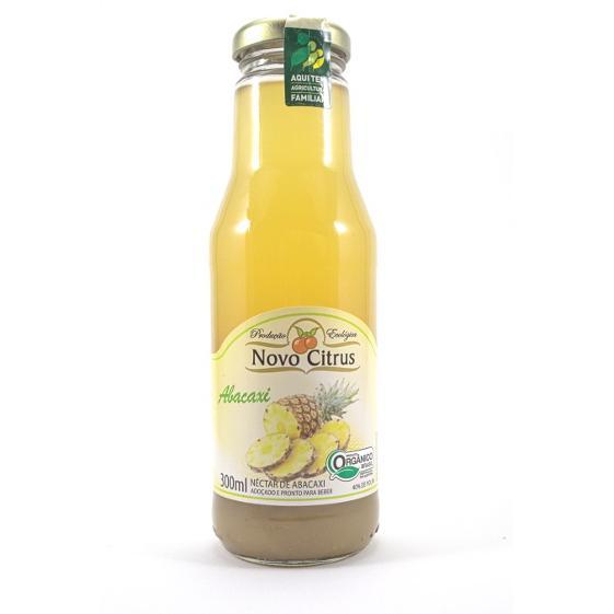 Néctar de Abacaxi Orgânico 300ml - Novo Citrus