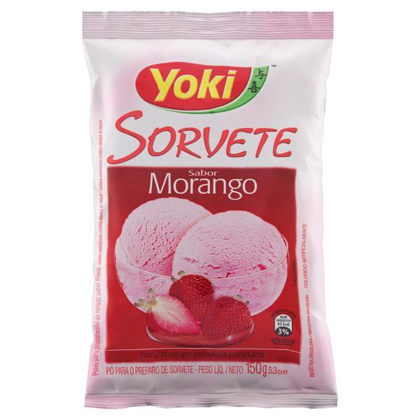 Pó para Sorvete Morango Yoki Pacote 150g