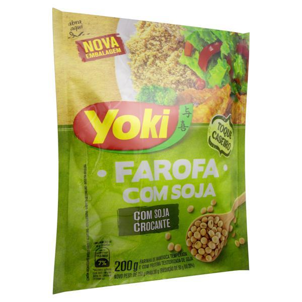 Farofa de Mandioca com Soja Yoki Pacote 200g