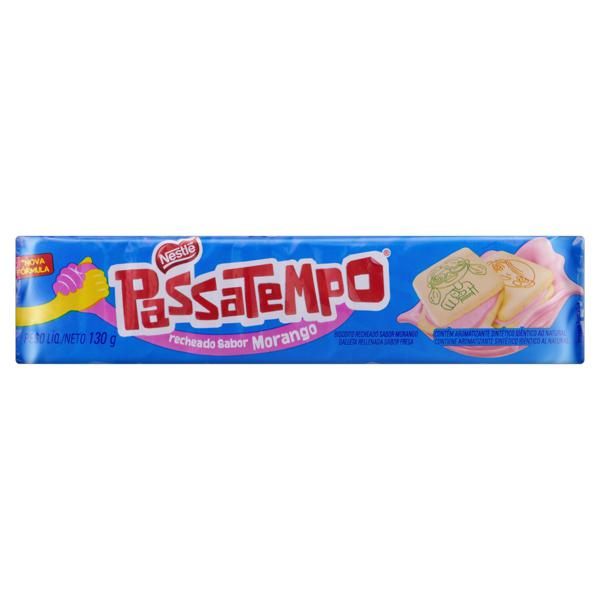 Biscoito com Recheio de Morango Nestlé Passatempo Pacote 130g