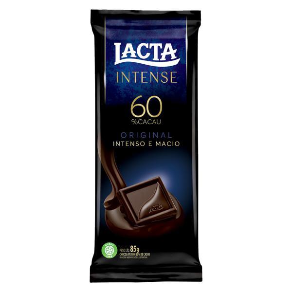 Chocolate 60% Cacau Original Lacta Intense Pacote 85g