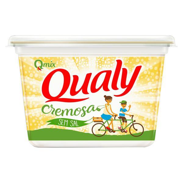 Margarina Cremosa sem Sal Qualy Qmix Pote 500g