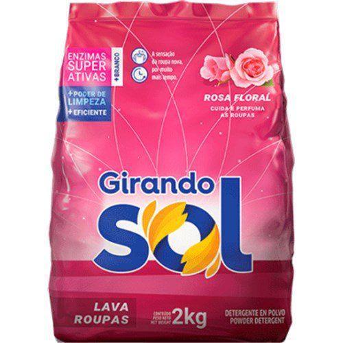 Sabão Pó Girando Sol Rosa Floral 2Kg