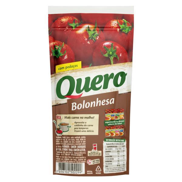 Molho de Tomate Bolonhesa Quero Sachê 340g