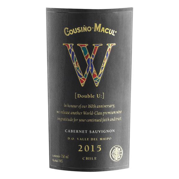 Vinho Chileno Tinto Seco Cousiño-Macul W Cabernet Sauvignon Valle del Maipo Garrafa 750ml