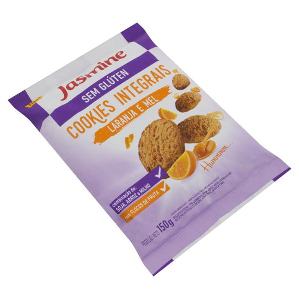 Biscoito Cookie Integral Laranja e Mel sem Glúten Jasmine Pacote 150g