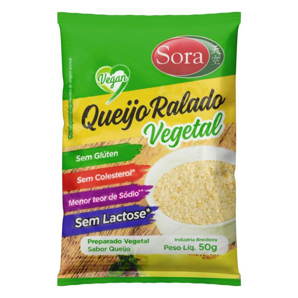 Queijo Ralado Vegetal Zero Lactose Sora Pacote 50g