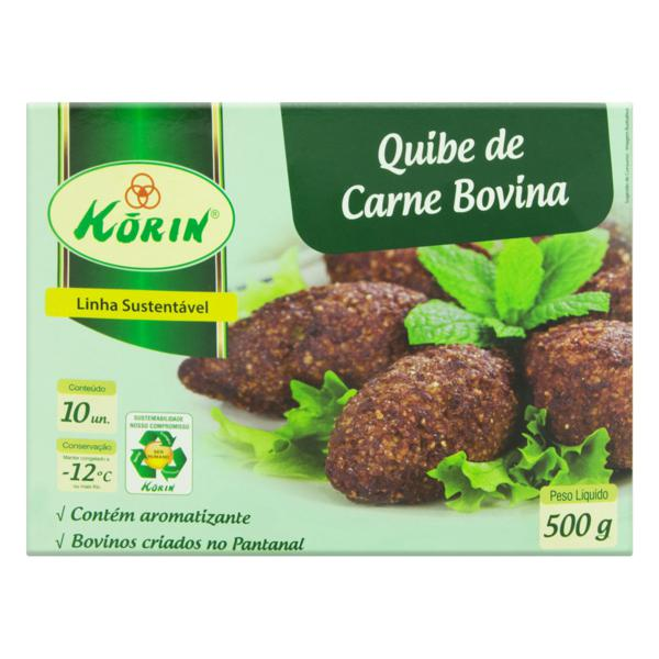 Quibe Congelado Carne Bovina KORIN 500g