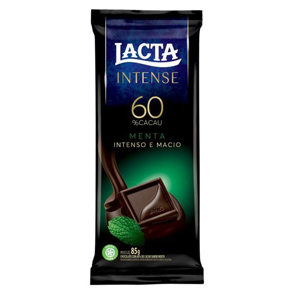 Chocolate 60% Cacau Menta Lacta Intense Pacote 85g