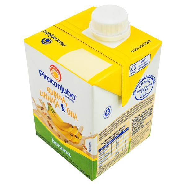 Bebida Láctea UHT Banana Piracanjuba Caixa 500ml