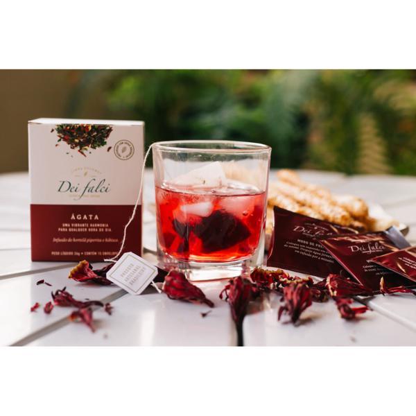 Chá ágata - hortelã piperita e hibisco orgânicos (15 unds)