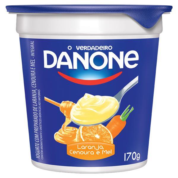 Iogurte Integral Laranja, Cenoura e Mel Danone Pote 170g