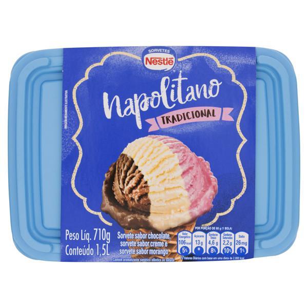 Sorvete Napolitano Tradicional Nestlé Pote 1,5l