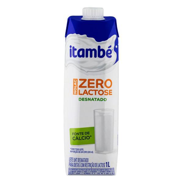 Leite UHT Desnatado Zero Lactose Itambé Nolac Caixa com Tampa 1l