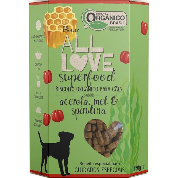Biscoito Orgânico Superfood Para Cães Acerola, Mel & Spirulina 150g - Dr. Stanley