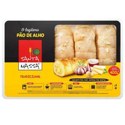 Pão de Alho SANTA MASSA Tradicional 400g