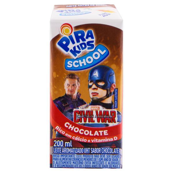Leite UHT Aromatizado Chocolate Piracanjuba Pirakids School Caixa 200ml