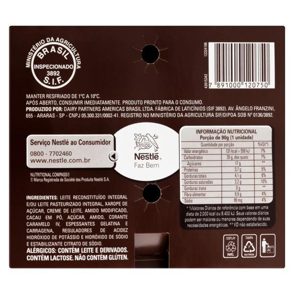 Pack Sobremesa Láctea Chocolate Nestlé Chandelle Bandeja 720g 8 Unidades Leve Mais Pague Menos
