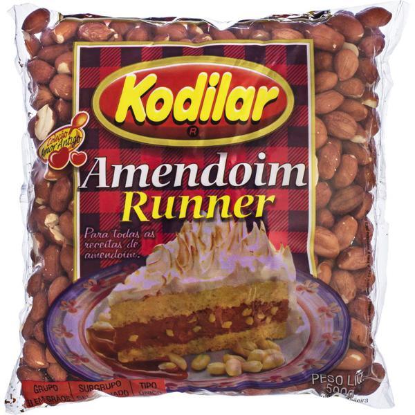 Amendoim Runner Com Pele Kodilar 500G