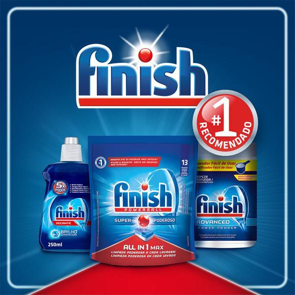 Detergente Tablete para Máquina de Lavar Louças Finish Powerball All In 1 Max Pouch 16,3g Cada 13 Unidades