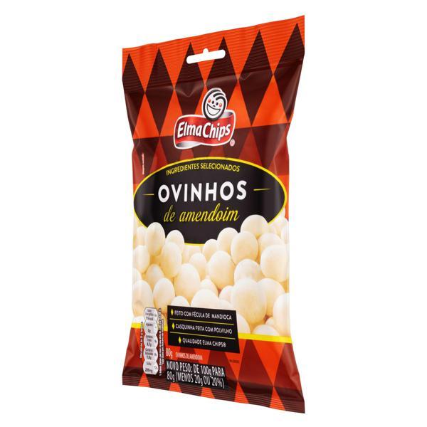 Ovinhos de Amendoim Elma Chips Pacote 80g