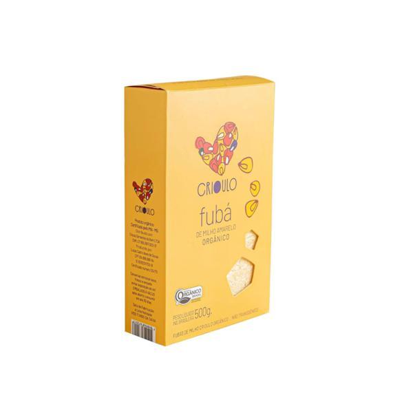 Fuba de Milho Amarelo Crioulo Orgânico 500g - Vista Alegre