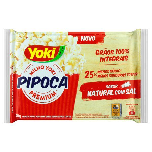 Pipoca para Micro-Ondas Natural com Sal Yoki Premium Pacote 90g