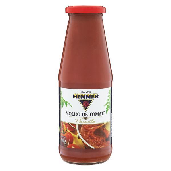 Molho de Tomate Passata Hemmer Vidro 680g