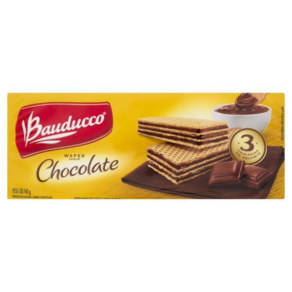 Biscoito Wafer Recheio Chocolate Bauducco Pacote 140g