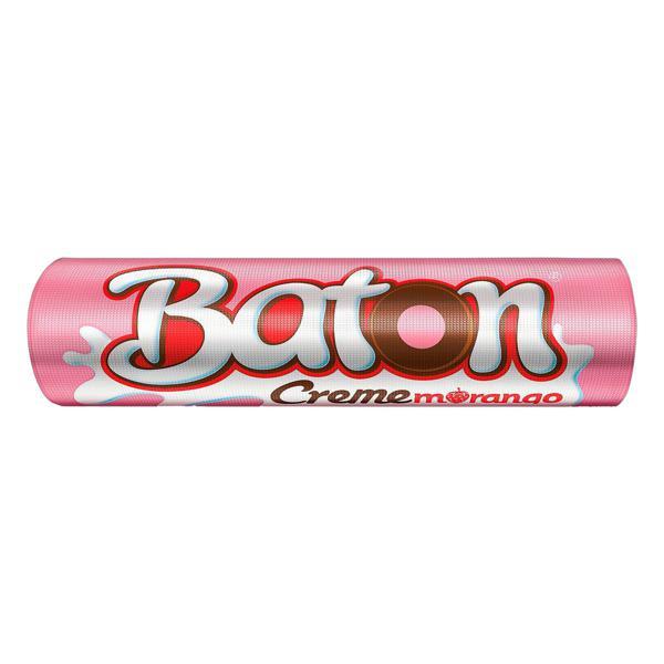 Chocolate ao Leite Recheio Creme e Morango Garoto Baton 16g